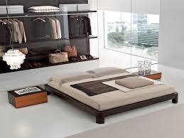 Asian Inspired Platform Beds - japanese style platform with lights construction king size beds 93