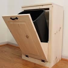 wood tilt out laundry hamper trash can trash bin wood tilt out wooden trash box