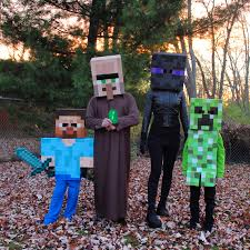 minecraft costumes minecraft family costume creepers costumes and