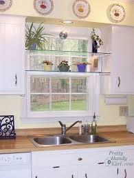 tempered glass shelves for kitchen cabinets diy glass shelves in front of kitchen window kitchen