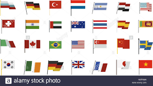 Country Flag Images Country Flag Icon Set Flat Style Stock Vector Art U0026 Illustration