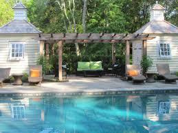 Pool Pergola Designs by Pergola Between Two Buildings Timeless Elegance Traditional
