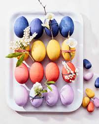 wooden easter eggs dyed wooden easter eggs martha stewart