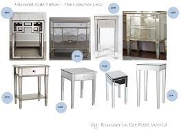 runner in the real world the look for less mirrored side tables