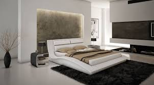 Leather Bedroom Sets Creditrestoreus - Modern white leather bedroom set