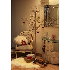 Pre Lit Christmas Twig Tree 6ft Champagne Gold Christmas Twig Tree Pre Lit 96 Led Lights Indoor