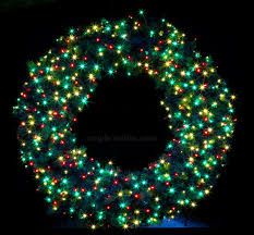 creative design wreath with lights cordless led pre lit