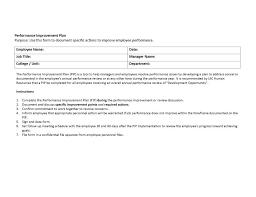 40 performance improvement plan templates u0026 examples