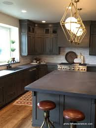 kitchen backsplash ideas black cabinets remodelaholic 40 beautiful kitchens with gray kitchen cabinets