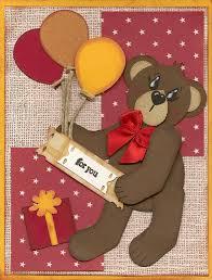 alex u0027s creative corner teddy birthday card