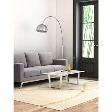 zuo atlas stone and brushed stainless steel coffee table 100708