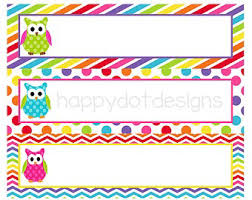 student name tags for desks cute owl name tags for classroom nazila pinterest