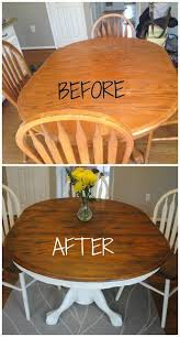 Refinish Dining Chairs Refinished Dining Set Diy Ideas Wood Table Wood