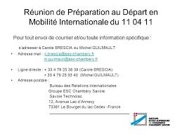 bureau des relations internationales réunion de préparation au départ en mobilité internationale du