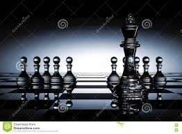 Glass Chess Boards 3d Rendering Illustration Of Chess Pieces The Glass King Chess