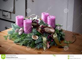 advent wreath candles advent wreath with purple candles stock photo image of ornament