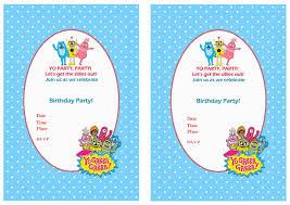 yo gabba gabba invitations printable printable invitations