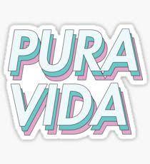 pura vida design illustration stickers redbubble