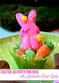 easter marshmallow candy kids easter activity with marshmallow peeps candy made by a princess