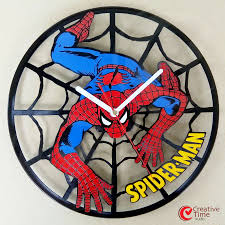 awesome clocks awesome superhero vinyl wall clocks sci fi design
