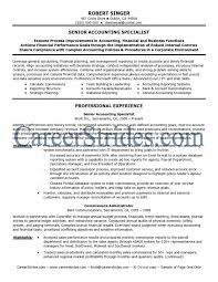 senior accountant sample resume click here to download this