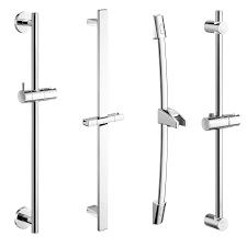 chrome shower head holder riser rail bar bracket kit ebay modern handheld shower head riser rails