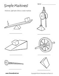 six simple machines worksheet tim u0027s printables
