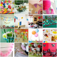 birthday party decorations with streamers birthday party