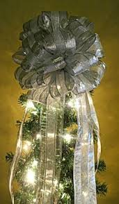 large silver glitter tree topper by creativelycarole