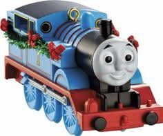 the tank engine with wreath glass ornament
