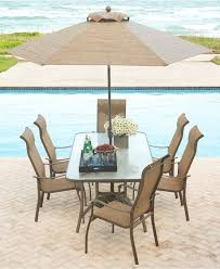 swimming pool table set with umbrella remarkable macys outdoor furniture brown patio umbrella dark metal