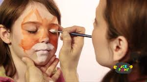 fox face painting tutorial youtube
