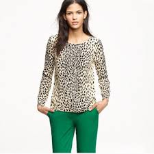 j crew blouses 71 j crew factory tops j crew factory leopard print