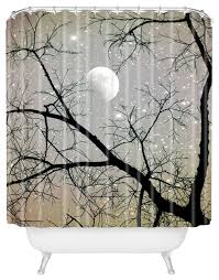 Deny Shower Curtains Shannon Clark Silver Sky Shower Curtain Contemporary Shower