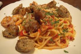 Pasta Sausage Pasta With Red Pepper Sauce Sausage And Shrimp Recipe On Food52