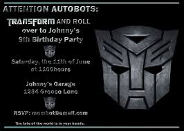 free printable transformer birthday invitations 100 images