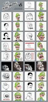Meme Faces List - the many faces of luigi by kopejo on deviantart