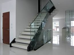 balcony staircase tempered glass railing hardware glass standoff