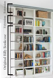 Sliding Bookcase Murphy Bed Billy Bookcase Hack With Library Ladder The Lilypad Cottage