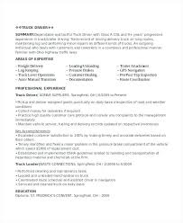 Resume Objective For Truck Driver Sample Of Driver Resume Create My Resume Sample Truck Driver