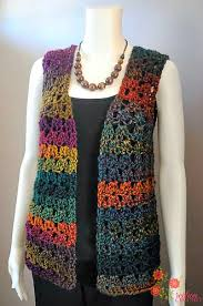 crochet patterns galore unique shell vest