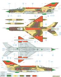 mig 21mf fishbed j egyptian air force color profile and paint guide