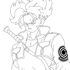 11 images of trunks ssj4 coloring page trunks dragon ball z