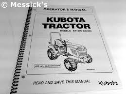 kubota b bx operators manuals