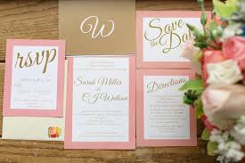 Backyard Wedding Invitations Pink And Gold Backyard Wedding Preppy Wedding Style
