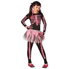 skeleton woman halloween costume girls skeleton punk pink halloween costume