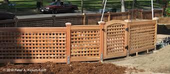 wood lattice wall custom wood lattice redwood fence gate claremont pomona