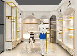 new york fashion white clothes store design for sale