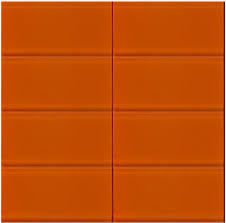bright orange glass subway tile in poppy modwalls lush 3x6 tile