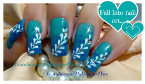 ombre nail art for beginners blue gradient nails floral nail